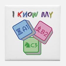 I Know My ABC Tile Coaster