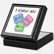 I Know My ABC Keepsake Box