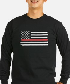 Red Line Flag Long Sleeve T-Shirt