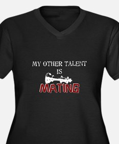 My Other Talent Is Mating Women's Plus Size V-Neck