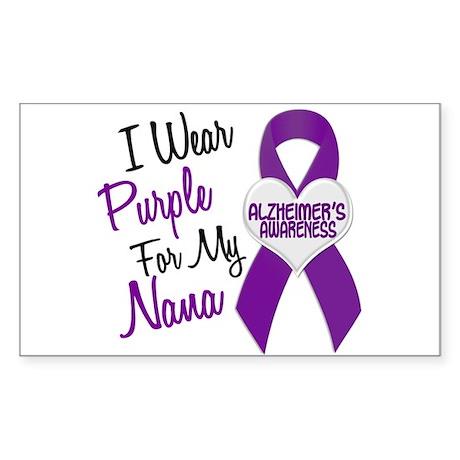 I Wear Purple For My Nana 18 (AD) Sticker (Rectang