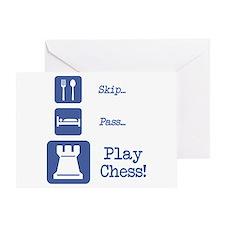 Eat Sleep Play Chess Greeting Card
