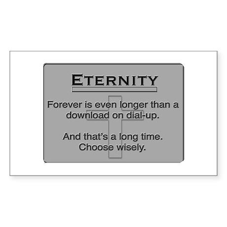 Eternity Rectangle Sticker