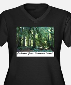 Cathedral Grove 30 Women's Plus Size V-Neck Dark T
