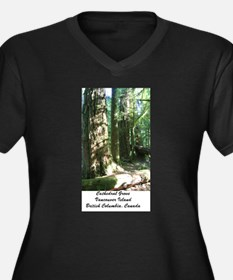 Cathedral Grove 28 Women's Plus Size V-Neck Dark T
