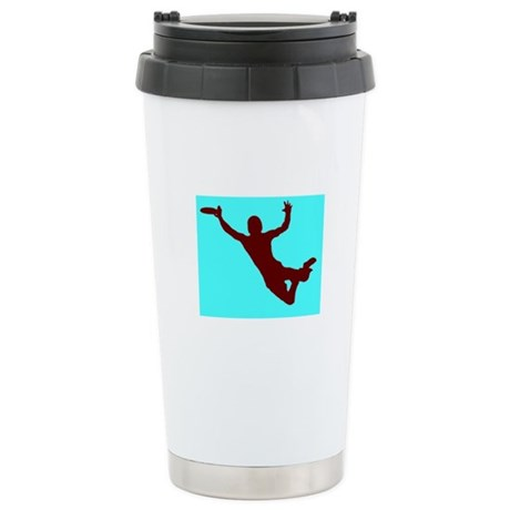 BLUE RED DISC CATCH Stainless Steel Travel Mug