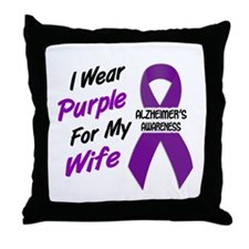I Wear Purple For My Wife 18 (AD) Throw Pillow