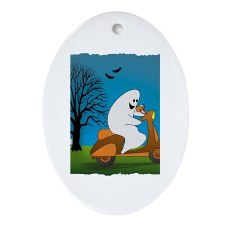 Scooter Halloween Oval Ornament