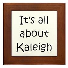 Funny Kaleigh Framed Tile