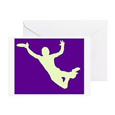 PURPLE YELLOW DISC CATCH Greeting Card