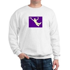PURPLE YELLOW DISC CATCH Sweatshirt