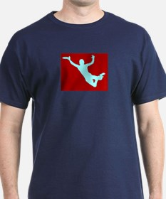 RED WHITE DISC CATCH T-Shirt