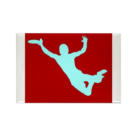 RED WHITE DISC CATCH Rectangle Magnet