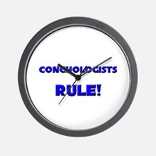 Conchologists Rule! Wall Clock