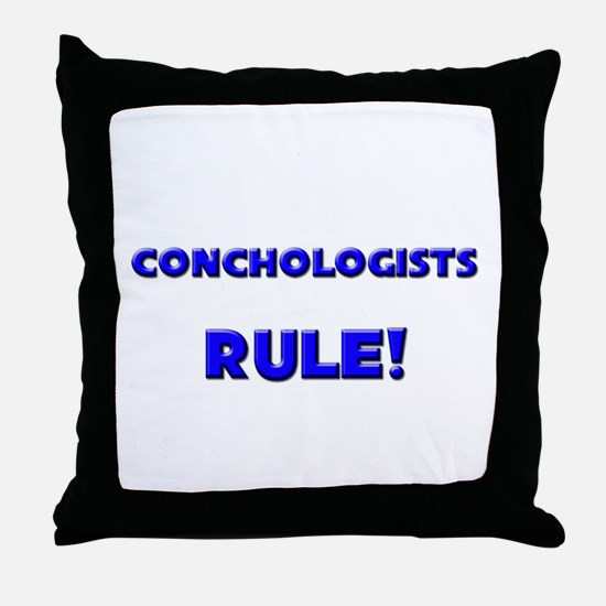Conchologists Rule! Throw Pillow