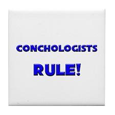 Conchologists Rule! Tile Coaster