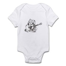 Catoons accoustic guitar cat Infant Bodysuit
