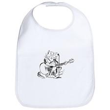 Catoons accoustic guitar cat Bib