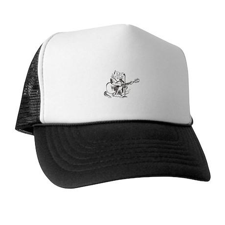 Catoons accoustic guitar cat Trucker Hat