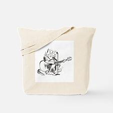 Catoons accoustic guitar cat Tote Bag