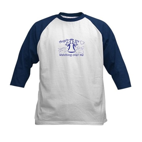 Angels Are Watching Over Me Kids Baseball Jersey