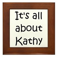 Cute Kathy Framed Tile