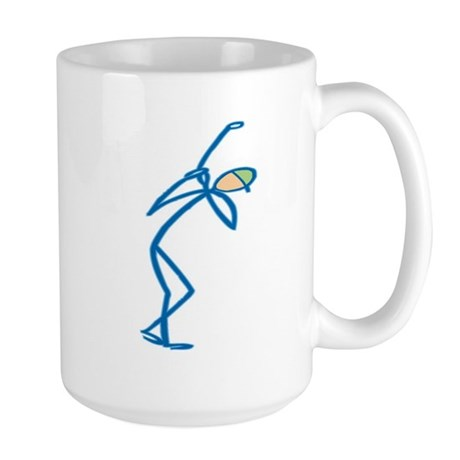Stick figure golf Large Mug