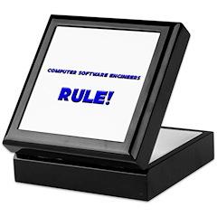 Computer Software Engineers Rule! Keepsake Box