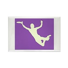 CHALK PURPLE CREAM DISC CATCH Rectangle Magnet