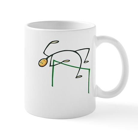 Stick figure high jump Mug