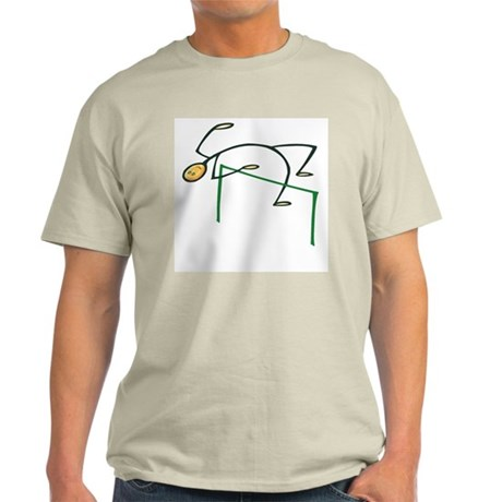 Stick figure high jump Light T-Shirt
