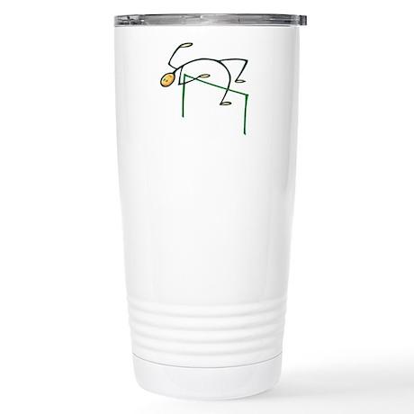 Stick figure high jump Stainless Steel Travel Mug