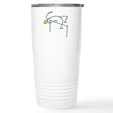 Stick figure high jump Travel Mug
