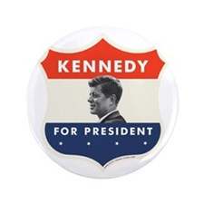"John F. Kennedy Shield 3.5"" Button"