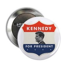"John F. Kennedy Shield 2.25"" Button (10 pack)"