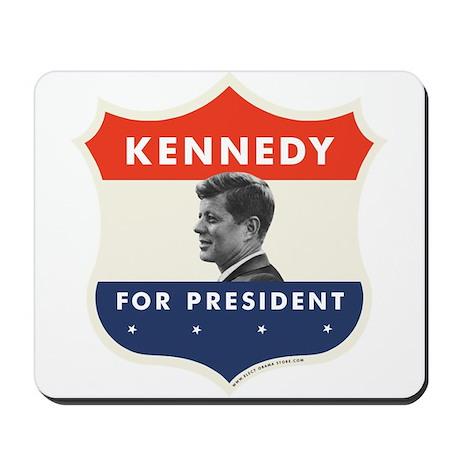 John F. Kennedy Shield Mousepad