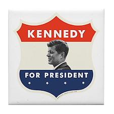 John F. Kennedy Shield Tile Coaster