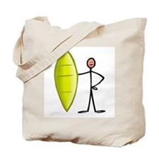 Stick figure surfer Tote Bag