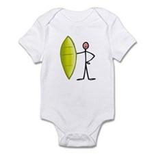 Stick figure surfer Infant Bodysuit