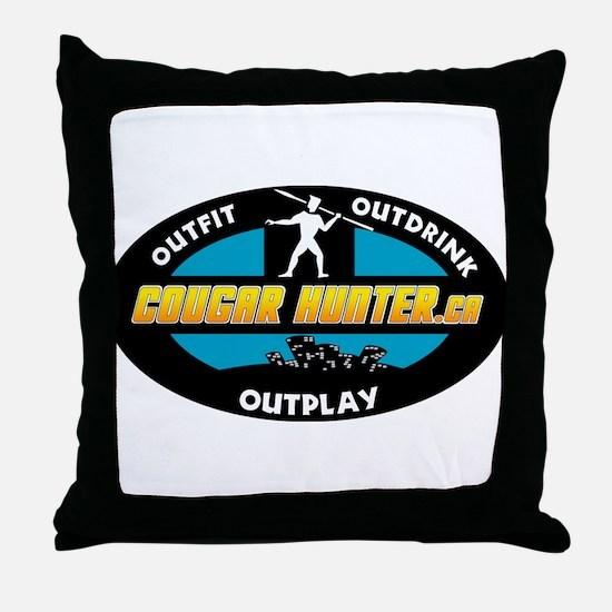 Cougar Hunter Survivor Throw Pillow