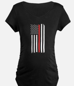 Red Line Flag Maternity T-Shirt