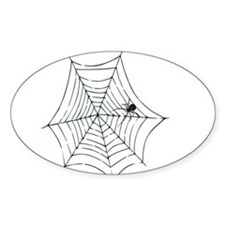 Spider Web Oval Decal