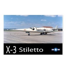 X-3 Stiletto Jet Aircraft Postcards (Package of 8)