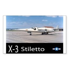 X-3 Stiletto Jet Aircraft Rectangle Stickers