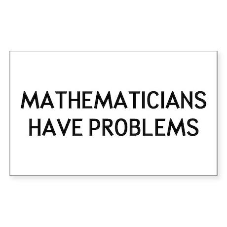 Mathematicians Sticker (Rectangle)
