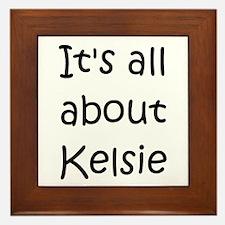 Cute Kelsie Framed Tile