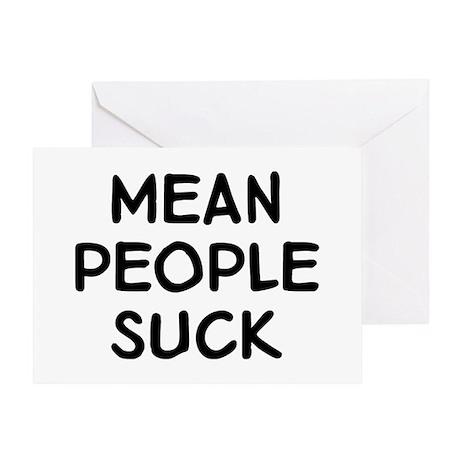 Mean Suck Greeting Card