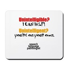 INTELLIGIBLE vs. INTELLIGENT Mousepad