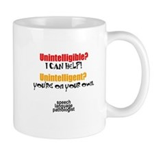 INTELLIGIBLE vs. INTELLIGENT Small Mug