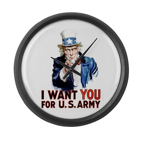 Uncle Sam Large Wall Clock